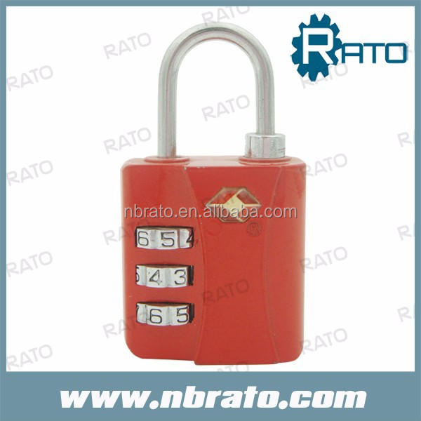 TSA metal open 3 digit lock manufacturer