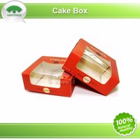 Cheap and fine quality take away cake cardboard paper boxes