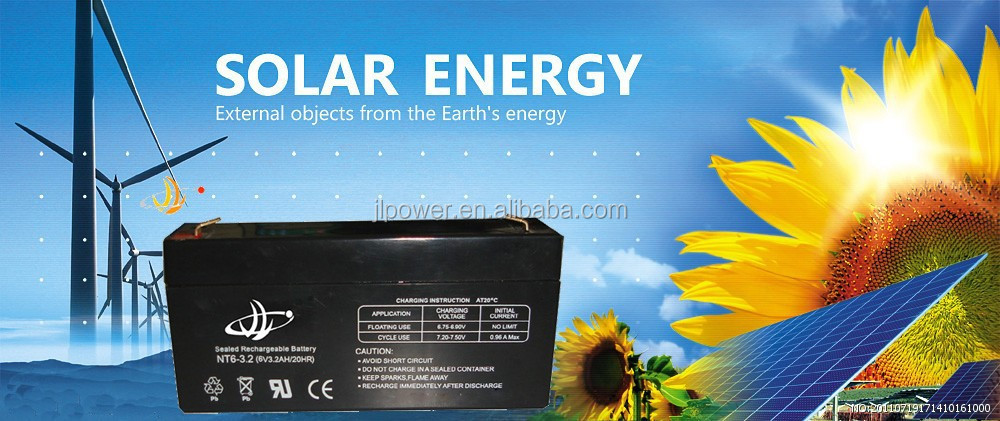 JL Brand 6V3.2AH lead acid battery VRLA Battery with 6V Voltage, 3.2Ah Capacity and 0.68kg Weight, Measures 134 x 34 x 61mm