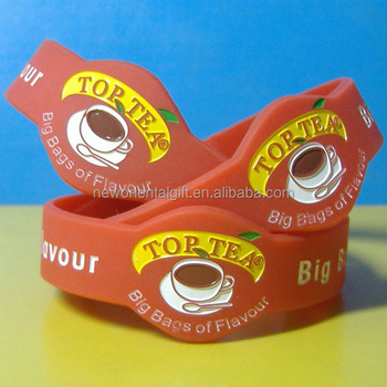 Custom Shape Debossed Color Filled Silicone Wristbands