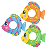 Bestway 36111 Inflatable popular kids swim tube floating toys rubber Friendly Fish Swim Rings'