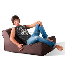Premium comfortable bean bag Sofa, waterproof Weave outdoor beanbag lounger in Chocolate color