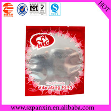 whosale heat sealed candom bag for vibrating ring