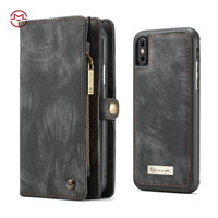 For Iphone 8 case, TOP Quality Magnetic Card Slot Wallet Leather Flip Phone Case For iPhone X 8 7 6 plus