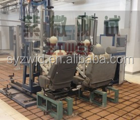 Vehicle seat headrests static strength test bench