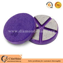 China 3 inch transitional ceramic dry diamond polishing pads for concrete floor