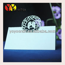 Hot sale!various colors wedding favors wedding decorations love birds table card laser cut seat card table name card