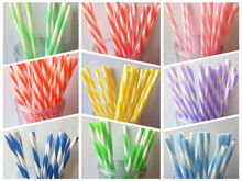 2015 Hot Sale Decorative Fancy Vintage Color striped Wedding Parties Straws