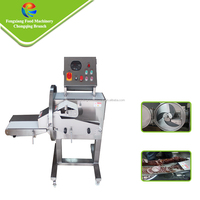 Advanced Full Automatic Cooked Meat Pig Ear Barbecue Meat Bacon Slicing Cutting Machine
