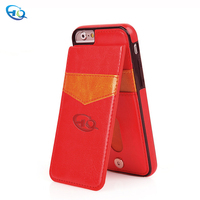 High quality Mobile Phone Shell with Card Pocket for iPhone mobile phone shell