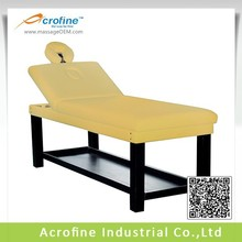 Acrofine stationary massage therapy table with solid woode legs