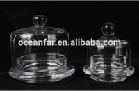 High Quality Glass Dome Cloche With Glass Plate