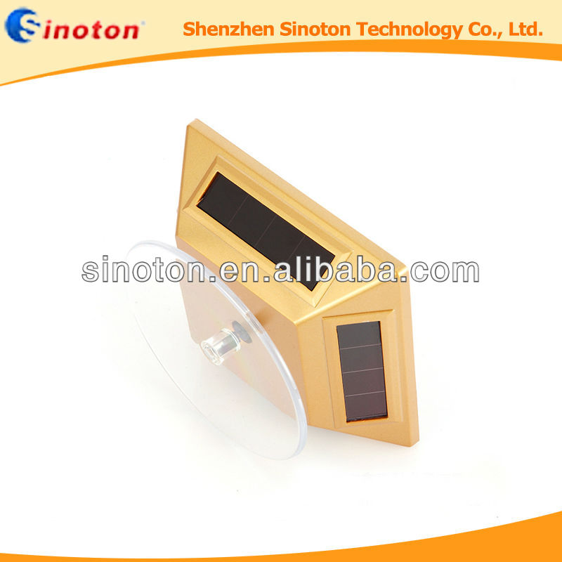 OEM Rotatable solar display, Solar Energy Showcase Rotation Turntable jewelry Display showcase, ABS material 100*100*42mm