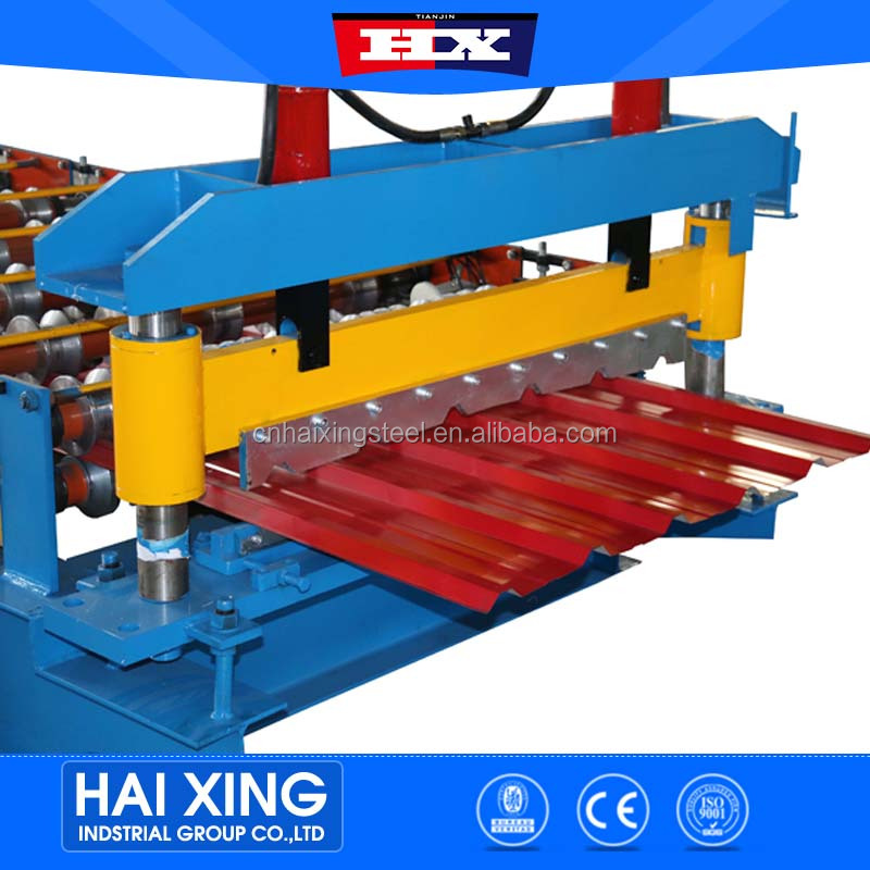 Chinese supplier peb structure corrugated iron roller roof sheet making roll machine