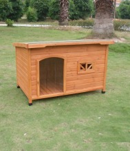 Classical design flat roof wooden dog house