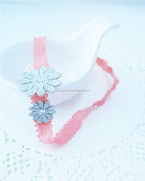 Comfortable Glitter Flowers with Rhinestones Elastic HairWrap Head band Hair Accessories for Babies