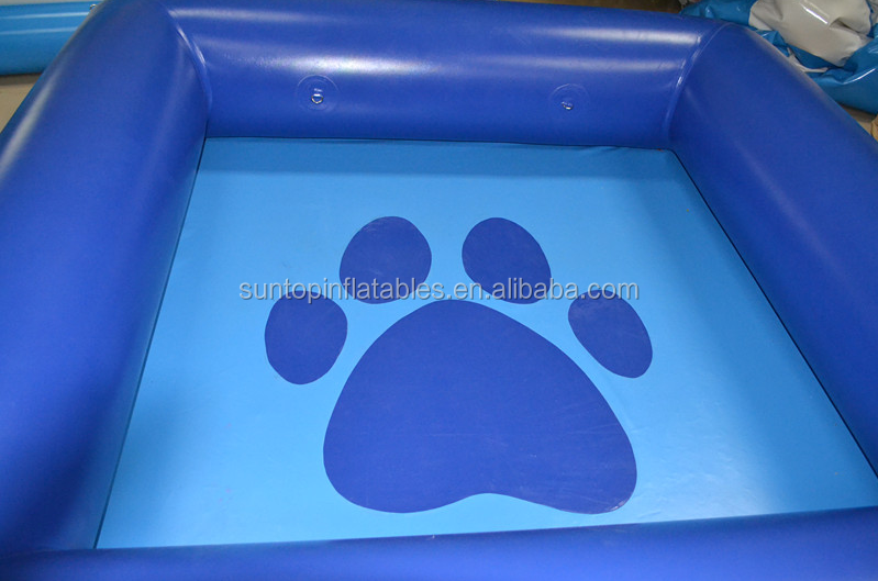 best quality of Inflatable dog swimming pool with best 0.9mm PVC tarpaulin
