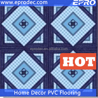 house hold sponged vinyl sheet pvc floor for lodging house