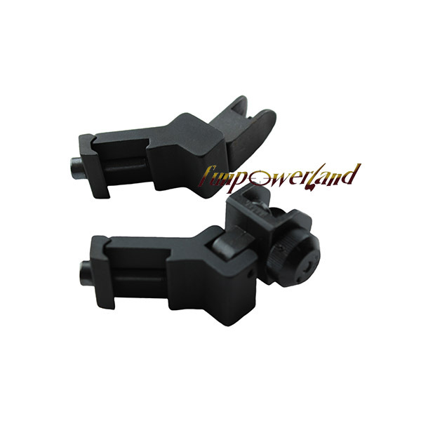 Funpowerland AR15 45 Degree Offset Flip-Up Rear and Front Sight