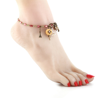 Handmade Anklet Natural Sea Shell Beach