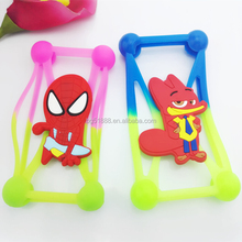 2016 most best lovely christmas gift silicone cell-phone case,rubber silicone mobile phone stand holder with cartoon characters