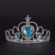Fashion blue Rhinestone plastic Cheap Tiaras and Crowns