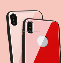 New Product Hybrid Colorful Shockproof Armor TPU Tempered Glass Full Cover Case For Iphone X 8 7 6