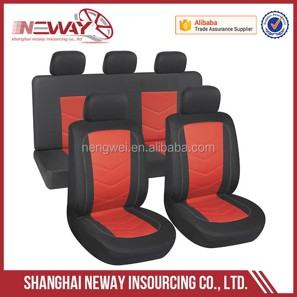 China manufacture economic stock mesh and polyester car seat cover