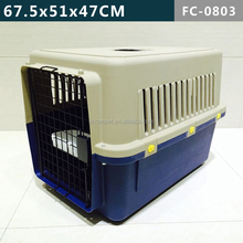 Secure and comfortable single door plastic dog crate, small/ medium size