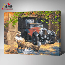antique truck menglei painting by numbers for adults