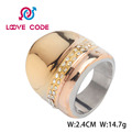 High quality fashion stainless steel rose gold plated ring