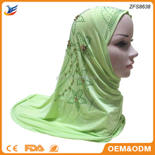 cotton jersey material headscarf sequins and rhinestones muslim hijab scarf