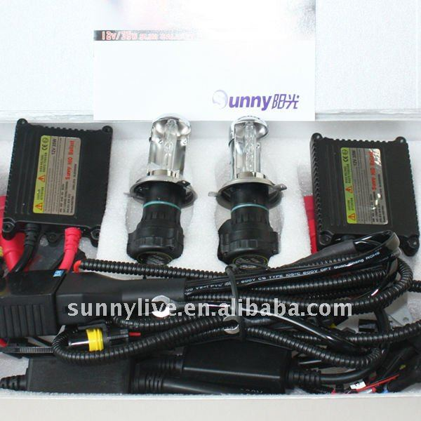 Sunny Black Slim Thin HID Xenon Light H4 High Low 12V 35W Light Conversion Kit