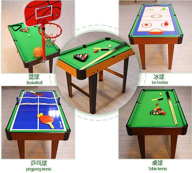2016 nouveau 4 en 1 multifonctionnel ga table pour enfants de billard tennis - Table billard enfant ...