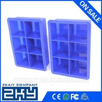 -40 to 260 Degree BPA Free Silicone Ice Cube Tray Extra Large Ice Cube Tray