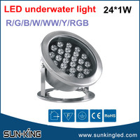 Promotional fountain/pool 24W led outdoor underwater light AC/DC24V