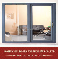 aluminum double hollow tempered glass reception sliding window Foshan