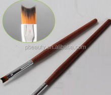Wholesale # CNAP-03 #8 French Tips French Manicure Brush Crescent half moon shape nail drawing painting Gel Brush