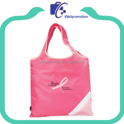 210D polyester/nylon foldable polyester hand bag shopping bag