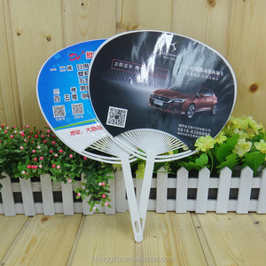 Custom ECO-friendly advertising plastic hang fans with logo printing hand fans