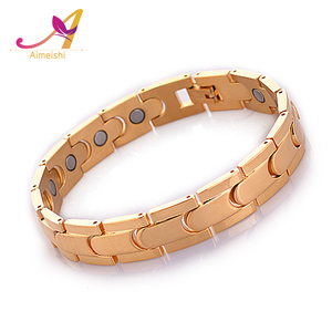 Trade Assurance supplier 18K gold plated 99.99% germanium health care women positive energy bracelet