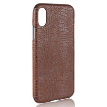 Crocodile grain soft back mobile phone leather case for iphone 8