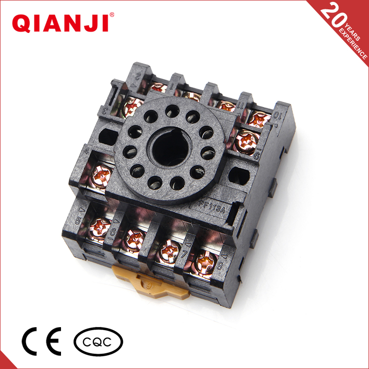 QIANJI Alibaba China Supplier Electrical Ceramic PF113A Relay Socket