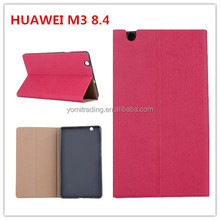 Candy color Flip case for HUawei m3 8.4 BTV-W09/DL09 tablet PC PU Leather Standing Cover with Auto Wake / Sleep