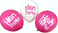 Bright Colourful Pink Hen Party Balloons for Wedding Night Decorations