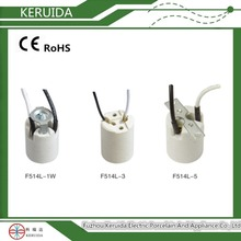 E14/E17 small porcelain lampholder lamp light bulb socket lamp base light cap with electrical wire