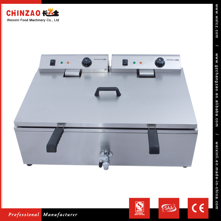 Commercial Professional Manufacture 30L+30L Capacity Electric Deep Fryer