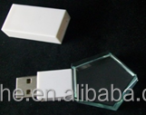 Crystal laser rhombus USB Flash Drive with LED light