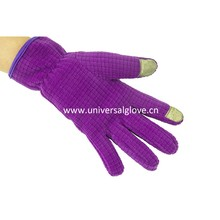 Violet Soft Fabric Novelties Wholesale China Women Running Gloves