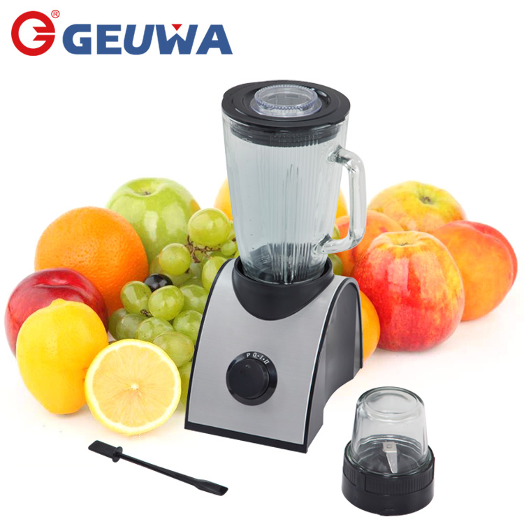 aluminum panel body 2 speed + pluse geuwa wholesale glass jug blender with dry grinder B19